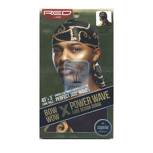 Red By Kiss Bow Wow Durag No. HDUPPL01 Black/Gold